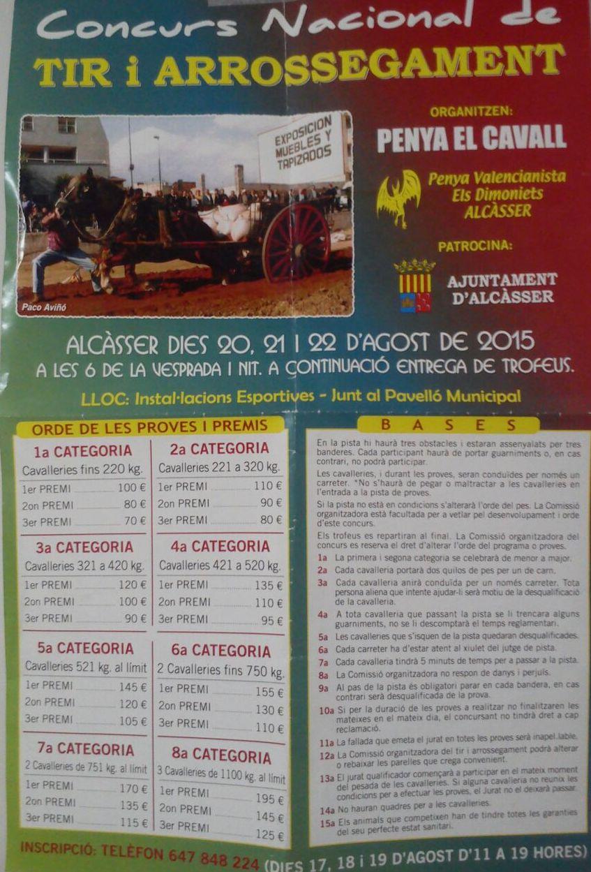 Cartel Alcàsser Agosto 2015