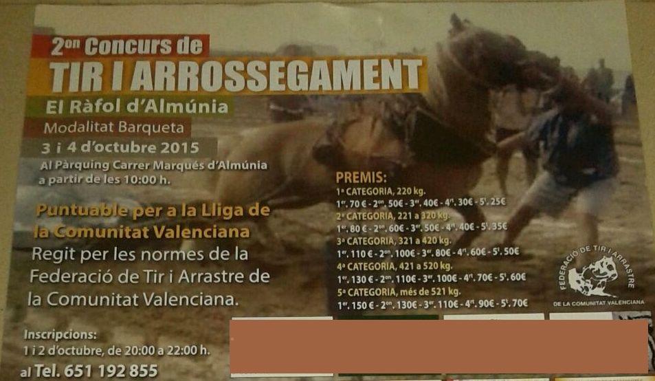 Cartel Ràfol d'Almúnia Octubre 2015 1