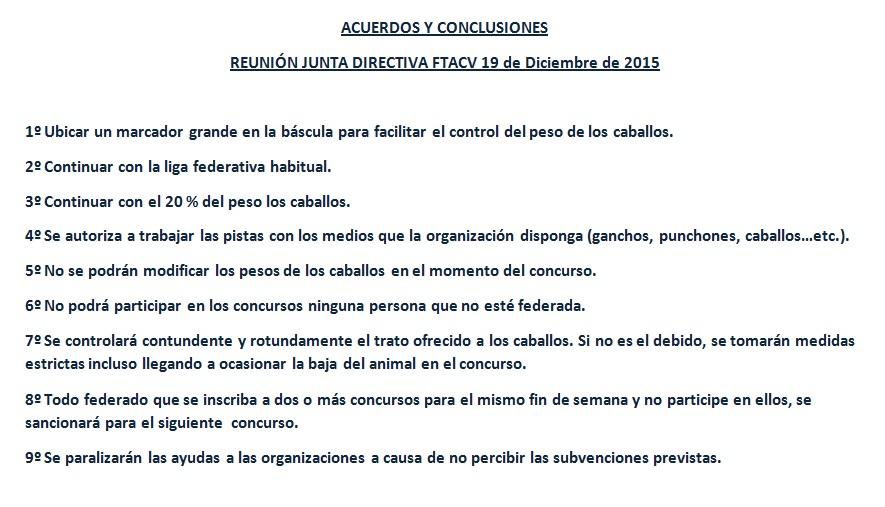 Acuerdo reunión 19 de Diciembre de 2015 Juanta directiva