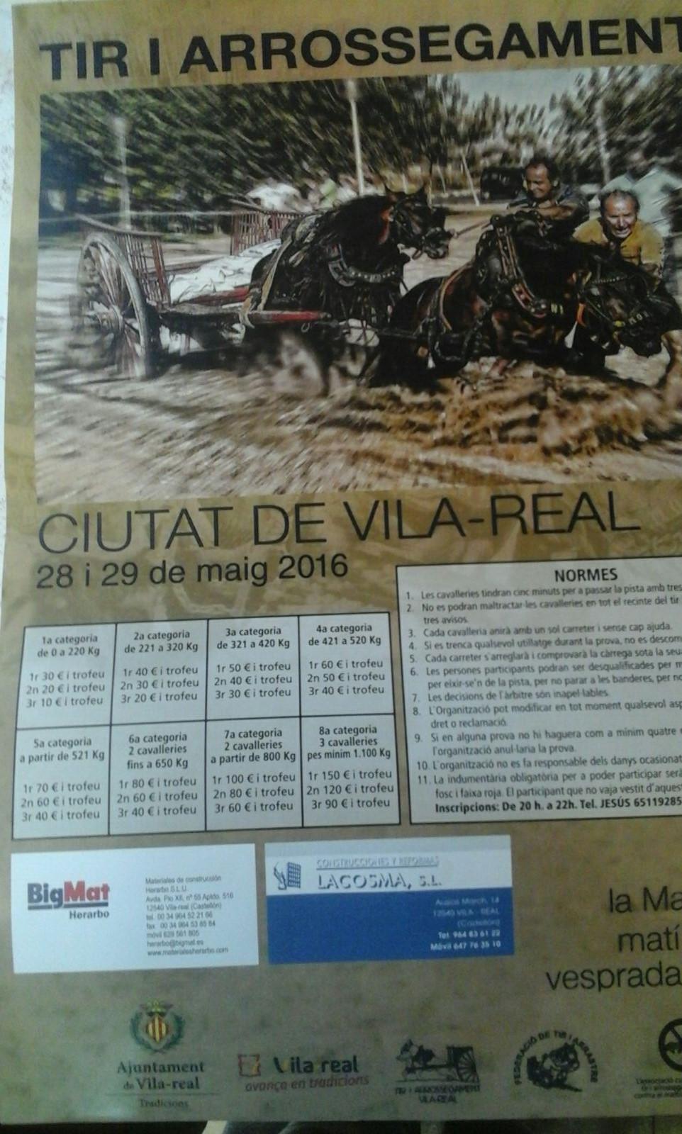 Cartel Tiro Villareal Mayo 2016
