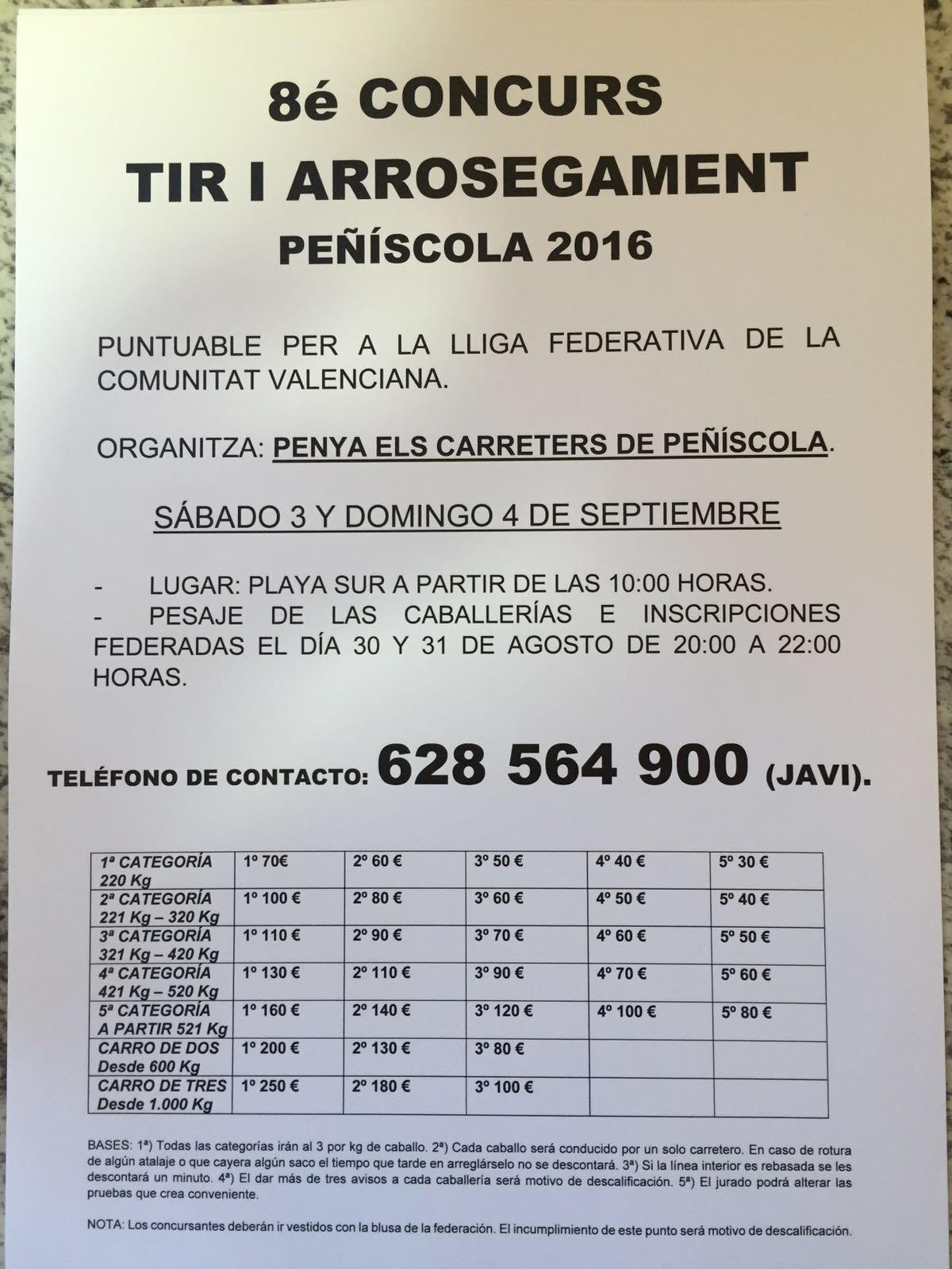 Cartel peñíscola Septiembre 2016