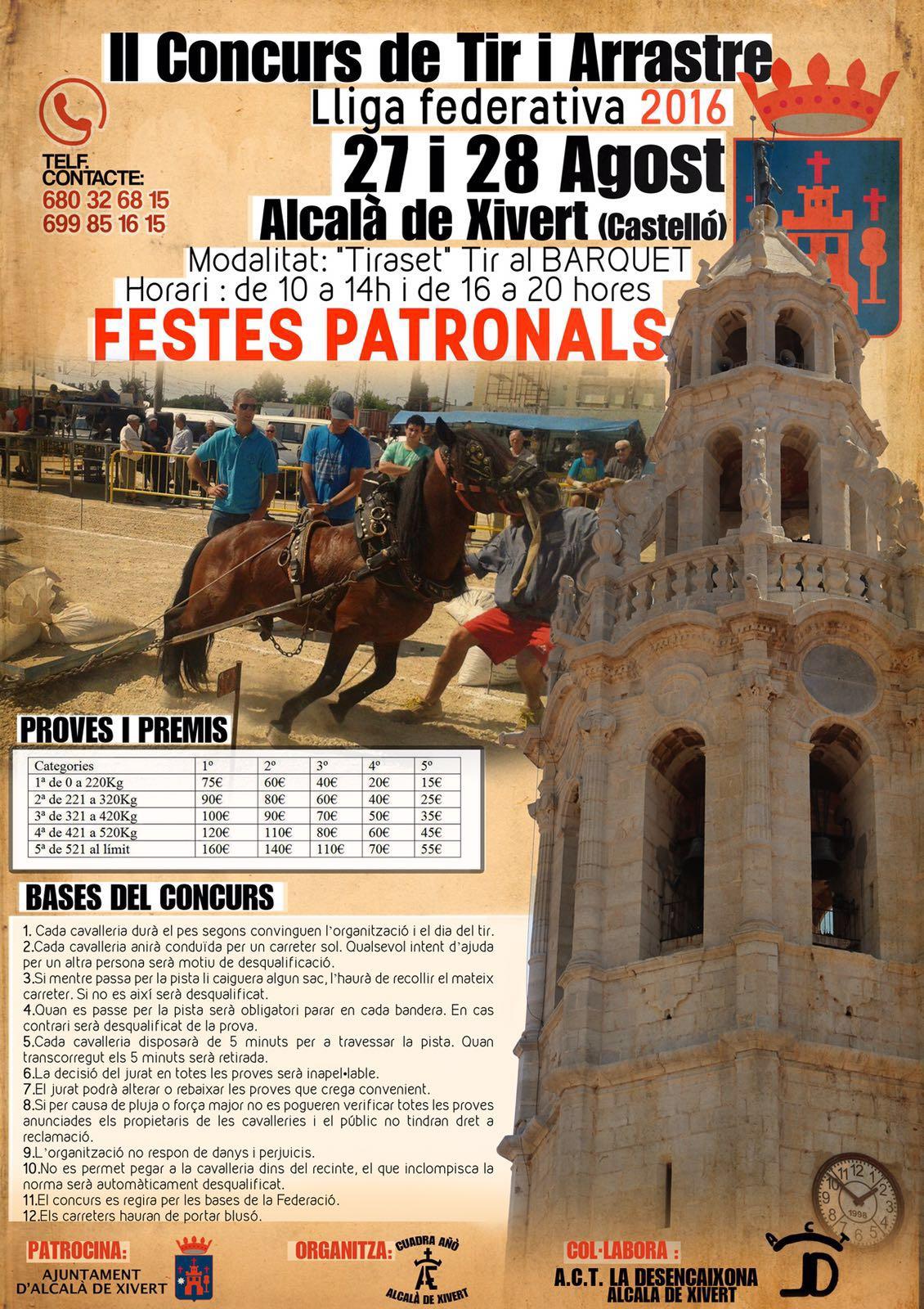 cartel Alcalà de Xivert Agosto 2016