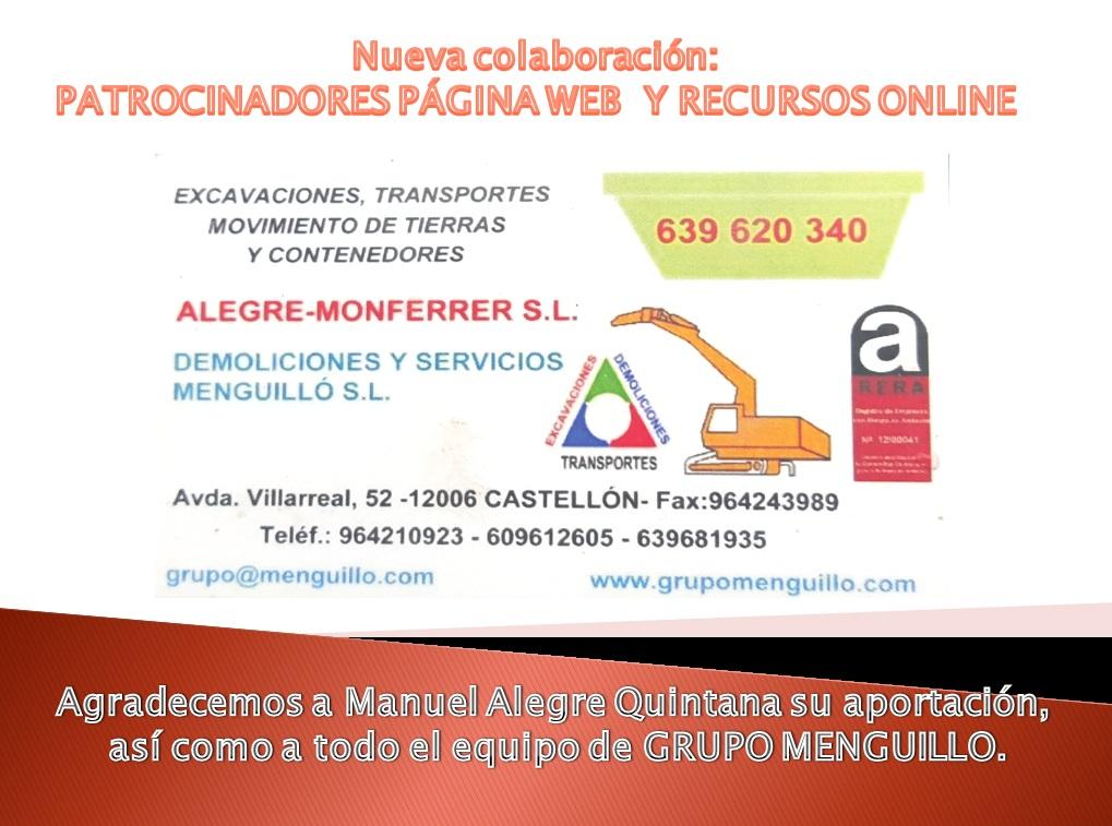 Anuncio Manuel Alegre Grupo Menguillo