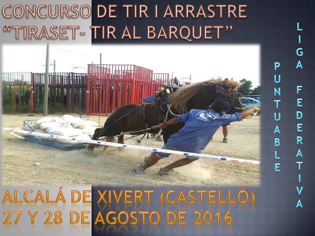 Anuncio Tiro Alcalá de Xivert Agosto 2016